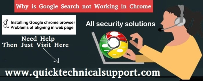 Google Search not working in Chrome