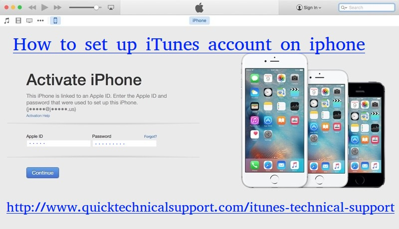 How to set up iTunes account on iphone