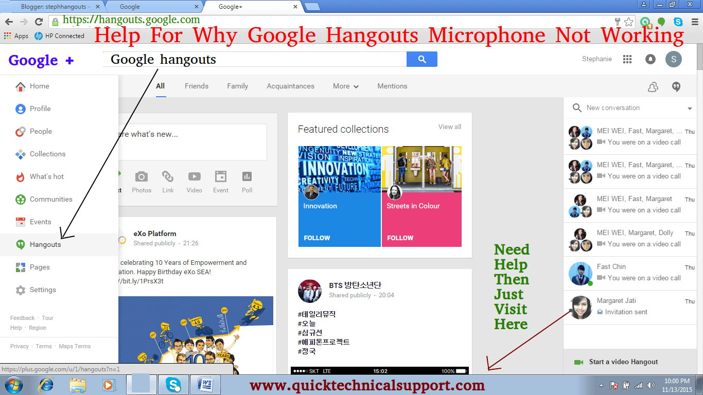 google-hangouts-microphone-not-working